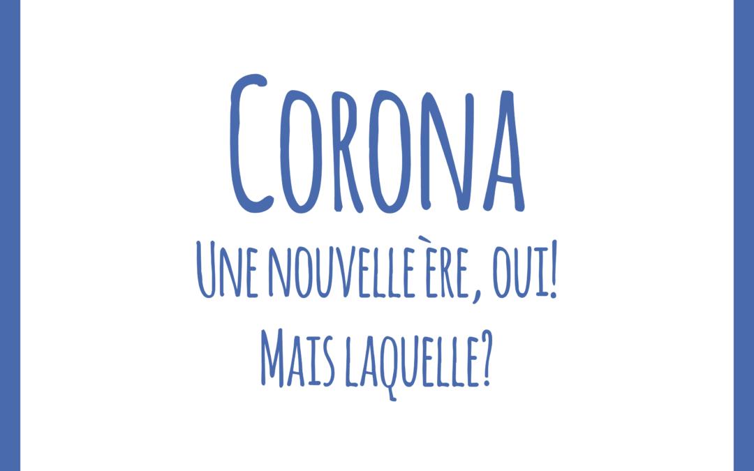 Coronavirus, un retour au calme nécessaire